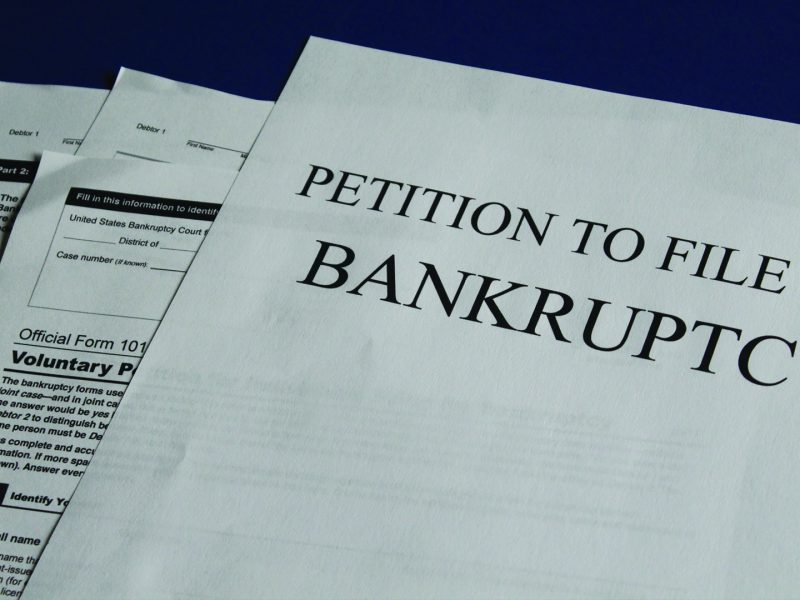 Four documents of a Petition claim to file for bankruptcy